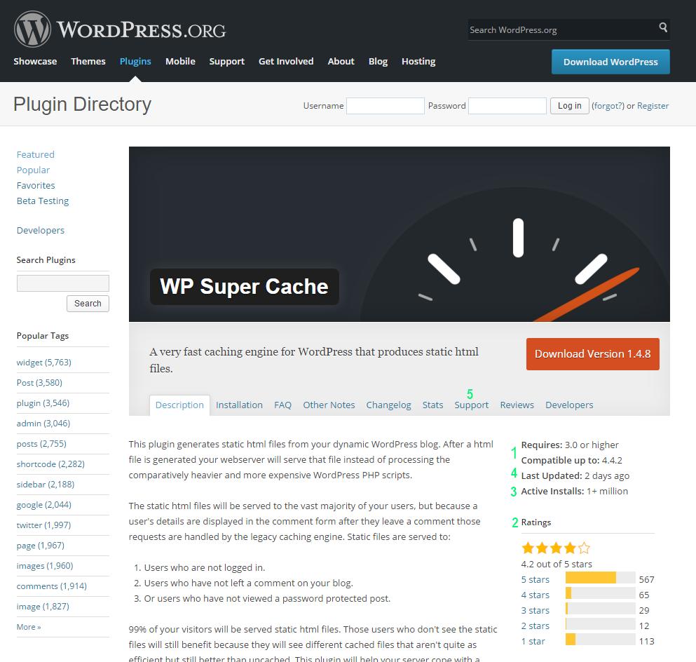 WordPress Plugin Übersicht