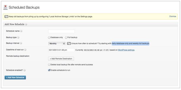 Ein WordPress Backup erstellen: Regelmäßig Backups durchführen