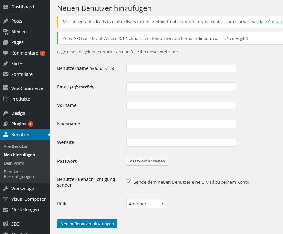 WordPress Benutzerrollen erstellen