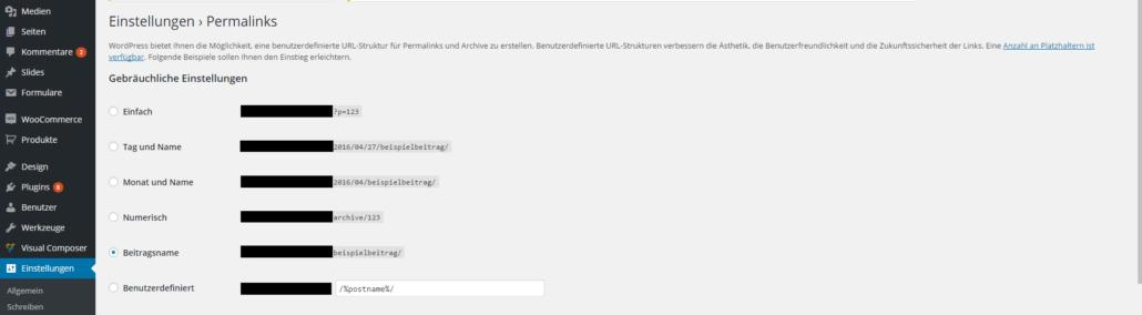 WordPress Slug - Einstellungen von Permalinks ändern