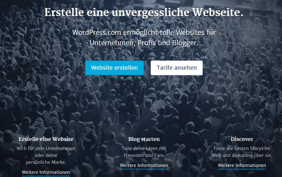 WordPress Domain Mapping Beispiel wordpress com