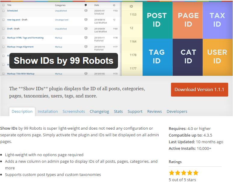 WordPress Seiten ID finden Plugin